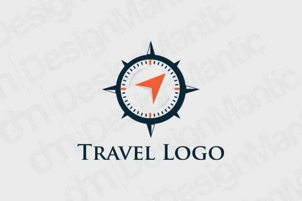 Blue And Orange Compass Logo