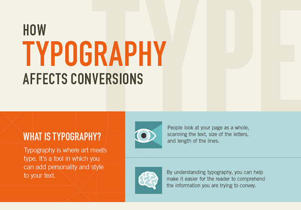 Typography affects conversions