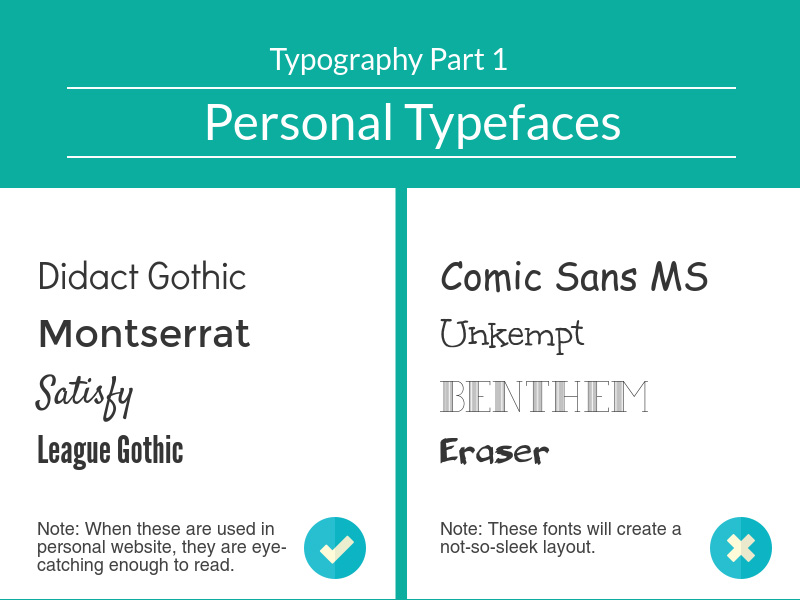Typography for Personal Websites