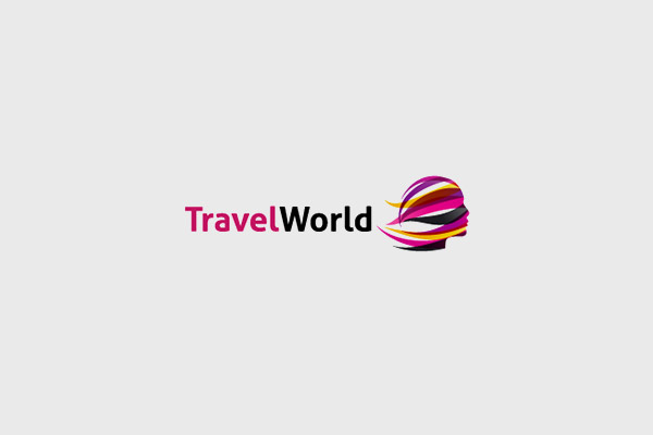 Colorful Travel Logo Design With A Girl Silhouette