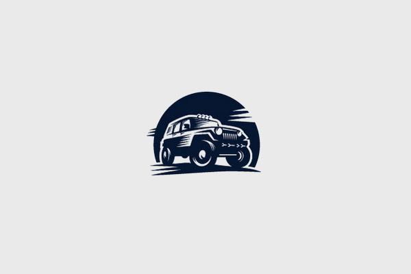 Monochrome Jeep Logo