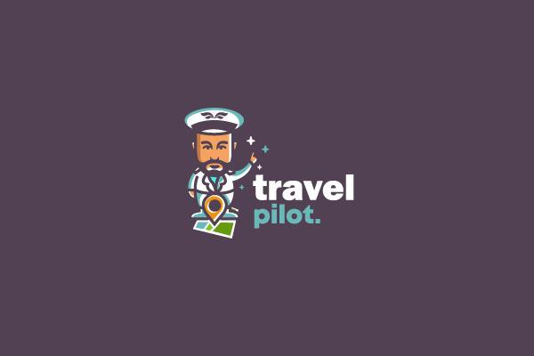 Travel Pilot Logo With An Avatar