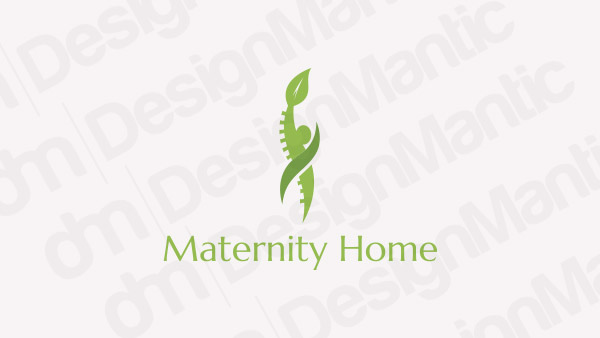 Green logo with woman silhouette
