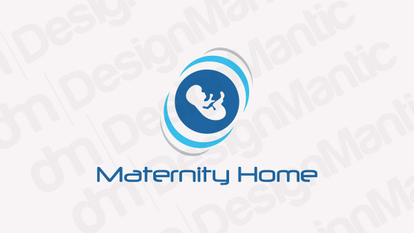 Maternity Logo with a fetus