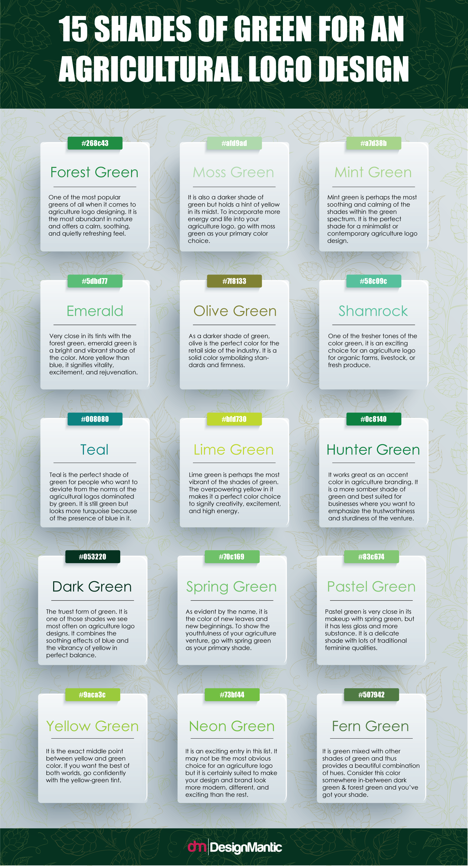 15 Shades Of Green For Agriculture Logo Designmantic The Design Shop