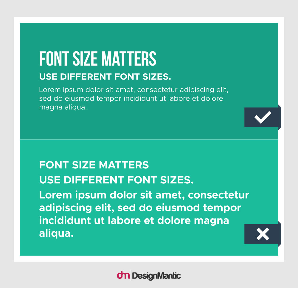 Font Size Matters
