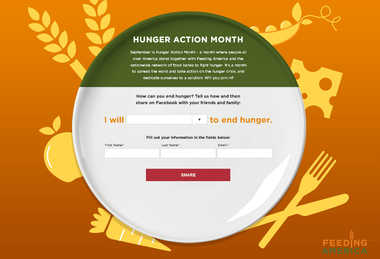 How can you end hunger? Hunger action month