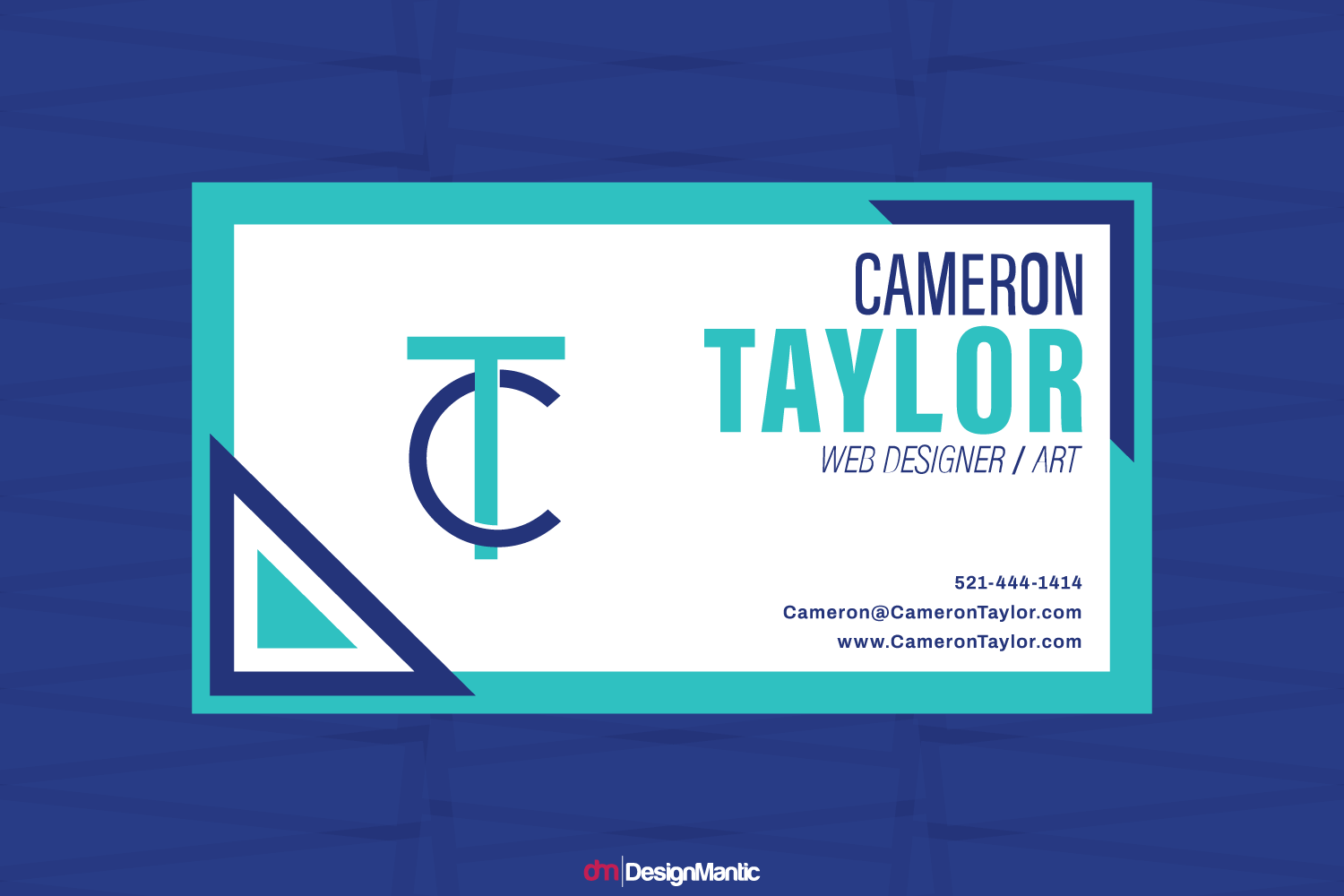 business card design for a brand