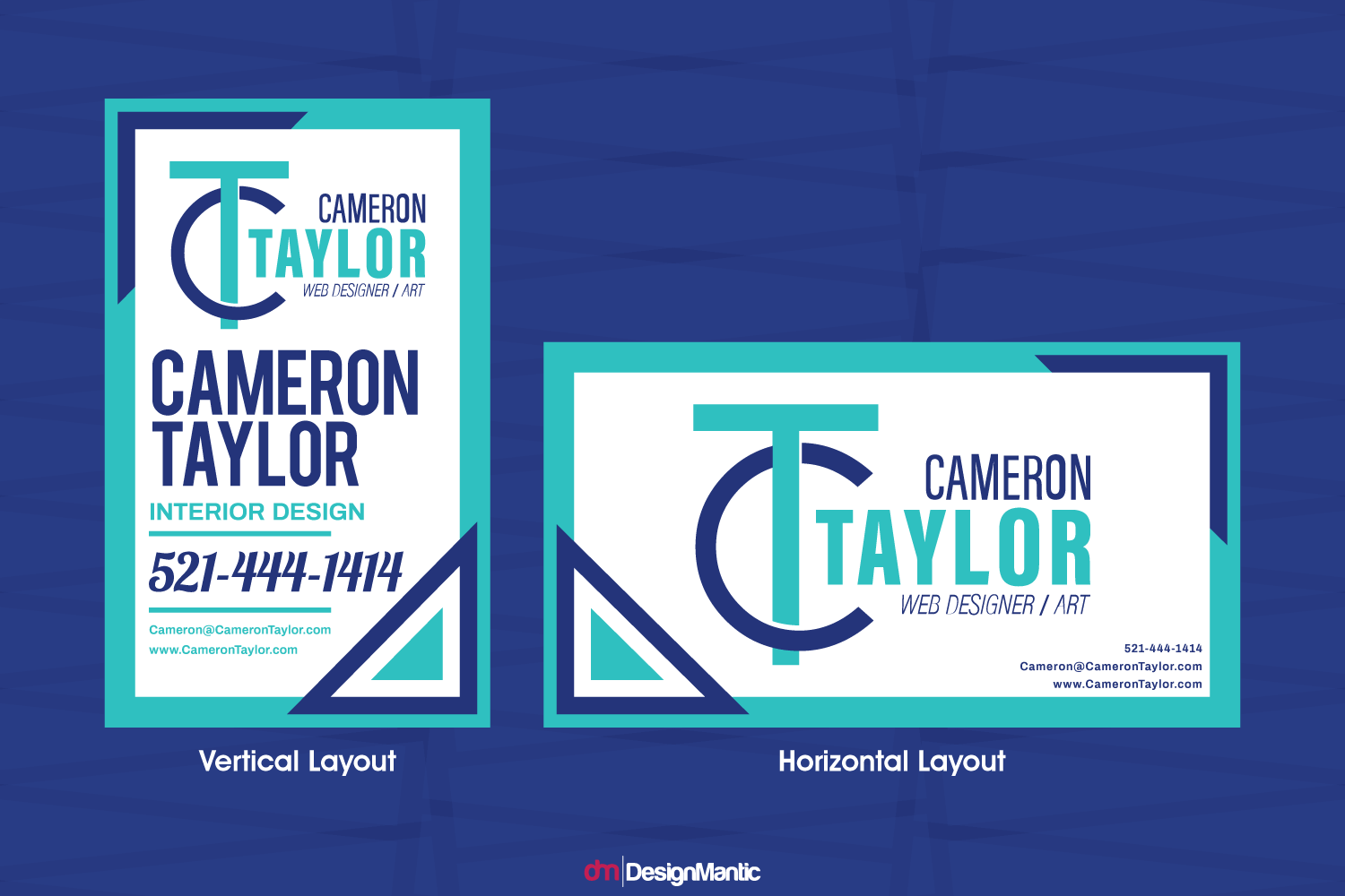 vertical and horizontal business card design