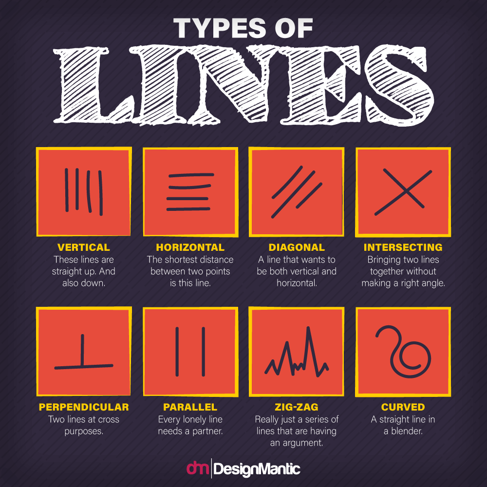 types of lines infographic