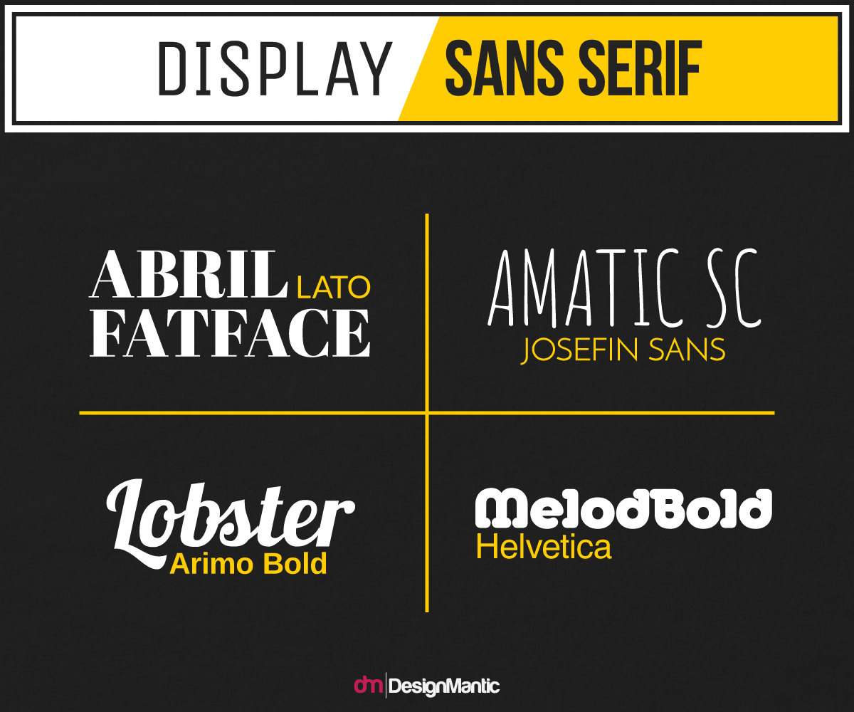 Display Font and serif font comparision