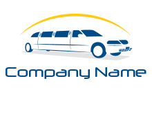crescent and outline limousine car logo