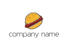 titled burger in a fast food logo