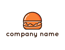 burger icon for fast food logo