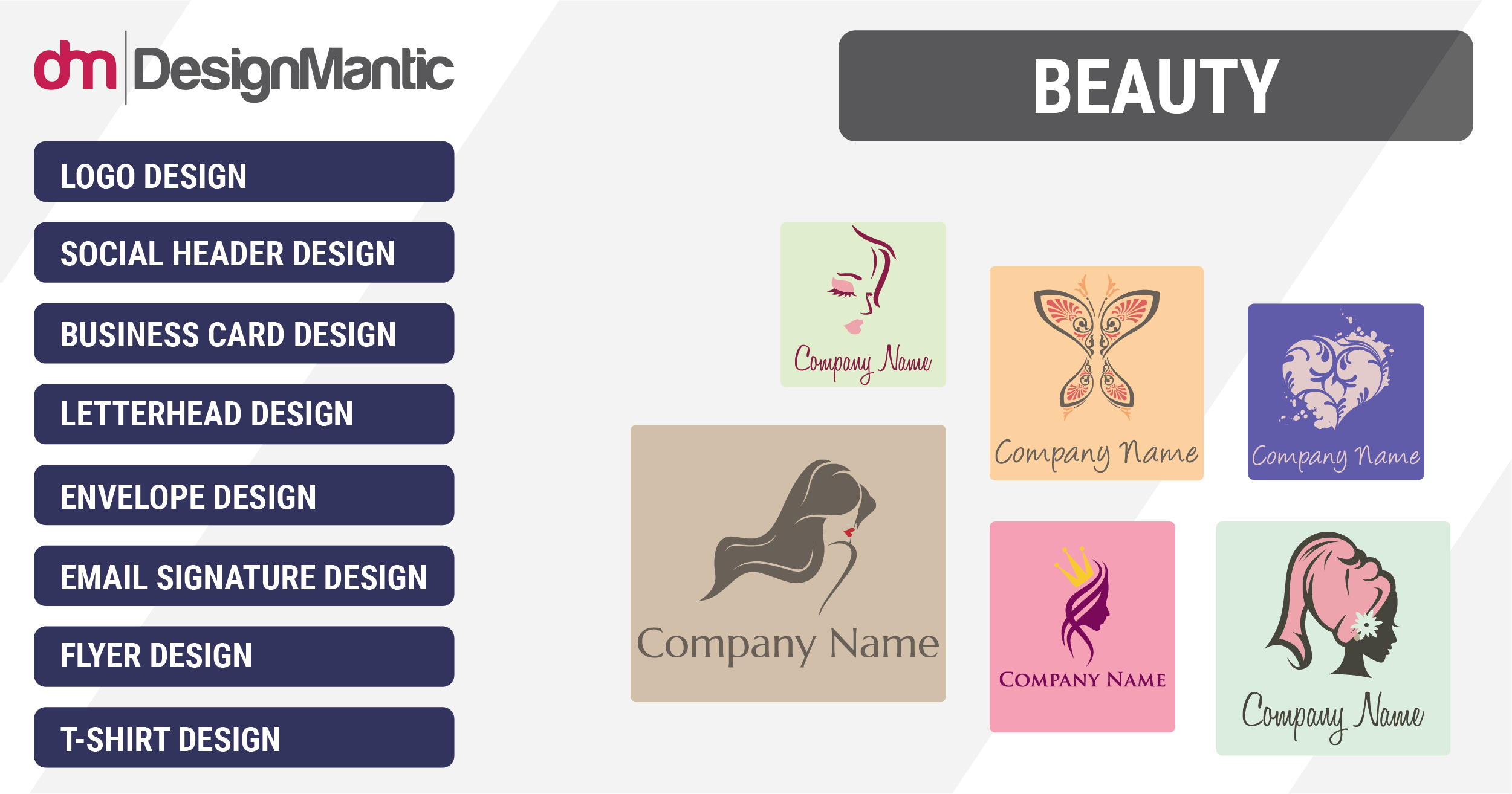 Free Beauty Logos, Spa, Salon, Stylist, Cosmetic Logo Templates