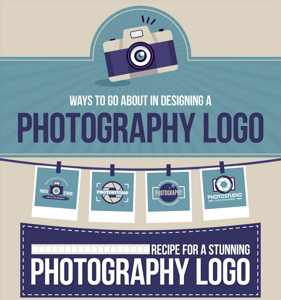 designing a photography logo infographic