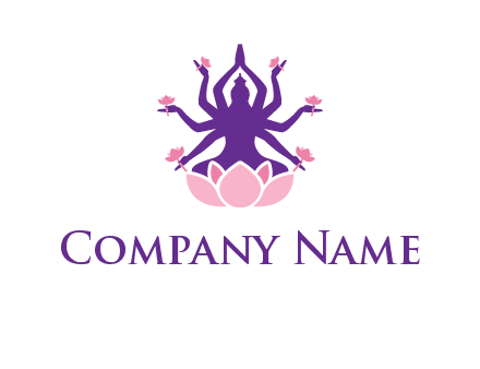 multi armed goddess logo