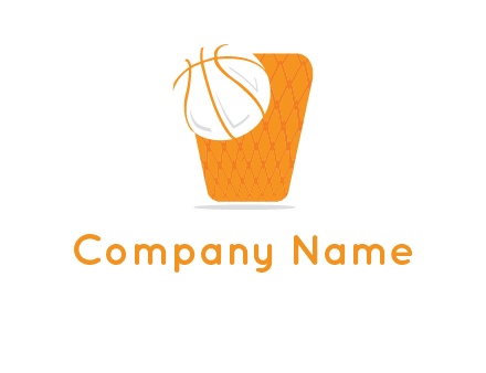 ball in basket logo