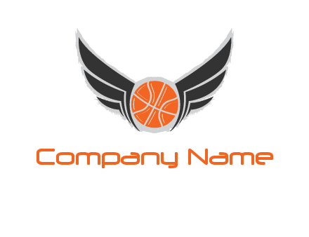 basketball with wings logo