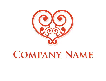 heart matchmaking logo design