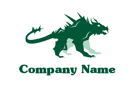 monster dinosaur logo