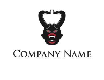 evil face with horns logo