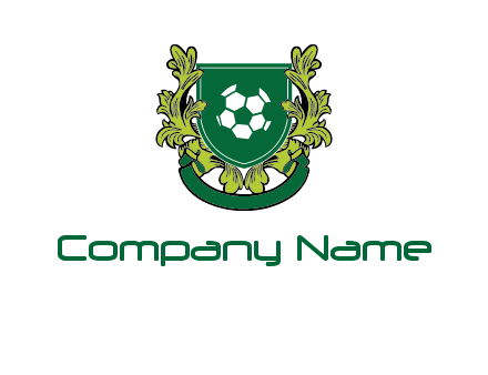 green leaf and football shield logo