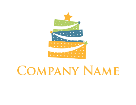 gift icon in cake logo