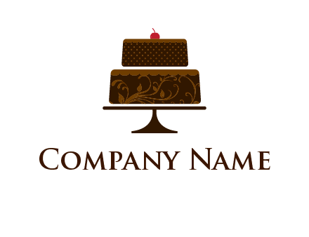 cake on stand clipart