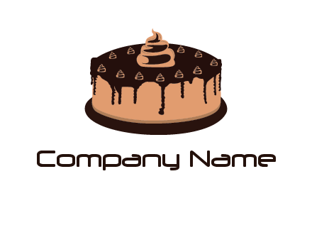 pastry on cake logo