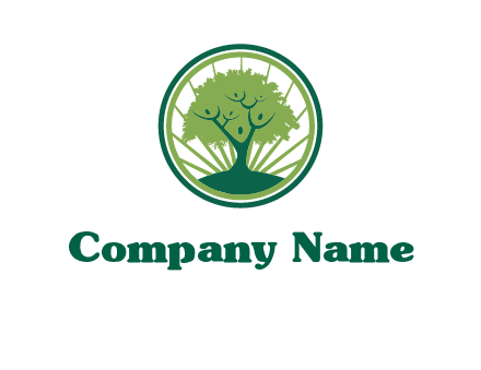 tree in circle employment logo