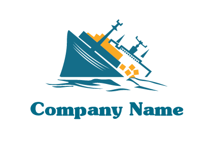 sinking ship with falling consignment insurance logo