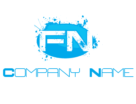 Letters FN are in a oval shape logo