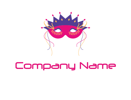 fancy masquerade mask entertainment logo