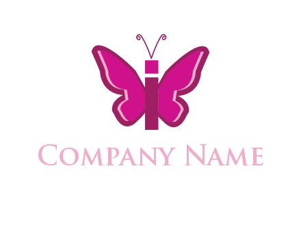 letter i incorporated with butterfly logo