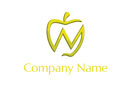 letter N incorporated with apple logo