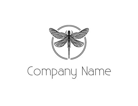detailed dragonfly logo