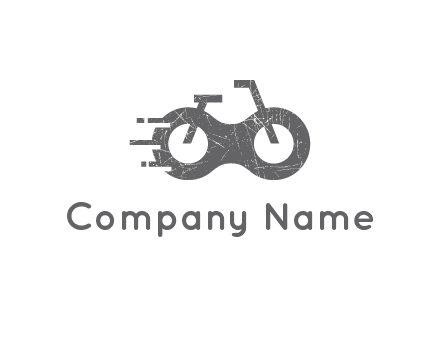 bike or glasses logo