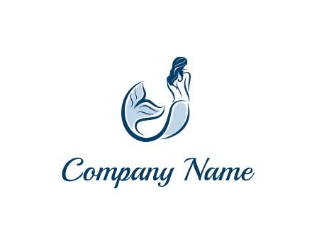 spa logo showcasing a mermaid