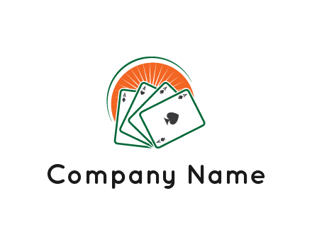 gambling logo with all aces of a card deck