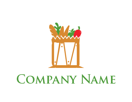 shopping bag logo for grocery stores