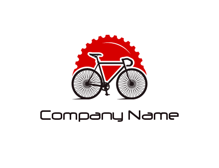 bicycle with a gear background logo