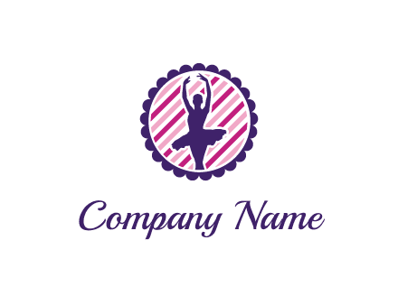 ballerina in 5th ballet position circular logo