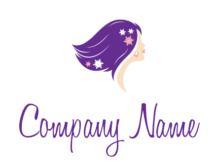 stars ornament on hair woman head fashion logo icon
