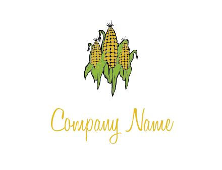 corn on cobs agriculture graphic