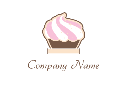 two color cream top cupcake logo