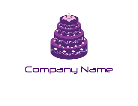 tiered layer wedding cake logo