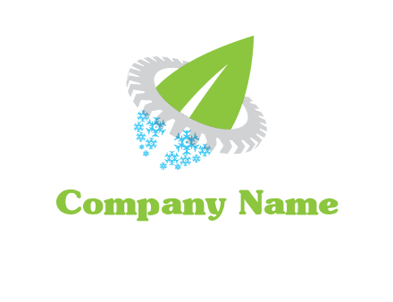 leaf and snowflake logo