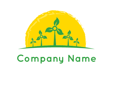 leaves wind turbine logo