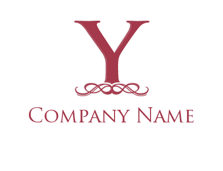 letter Y and ornament logo